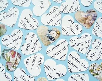 500 Beatrix Potter Heart Book Confetti - Baby Shower, Birthday Party, Christening - Decor