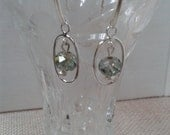 Bridal Line Anniversary Sterling Silver Connector with Light Blue Crystal Dangle Earring and Sterling Silver Ear Wire Jewelry