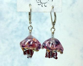Jellyfish Glass Earrings