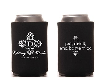 Wedding Can Beverage Cooler Eat Drink Be Married Love Marriage Classic Black Printable Digital
