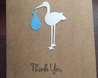 Baby Shower Thank You Cards - Baby Thank You Cards -Thank you Cards - Stork Thank You Cards - 10