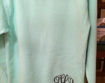 Comfort Colors Sweatshirt with Small Monogram
