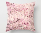 Pillow cover, spring decor, pink pillow, beige pillow, pastel pillow, spring pillow, french decor, rustic decor, tree pillow, cherry blossom