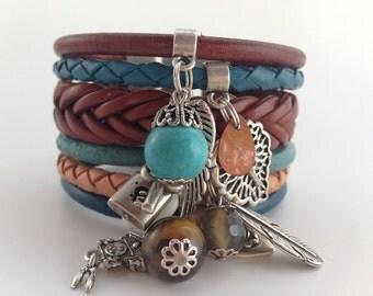 Amazing cuff bracelet 'Gypsy winter'