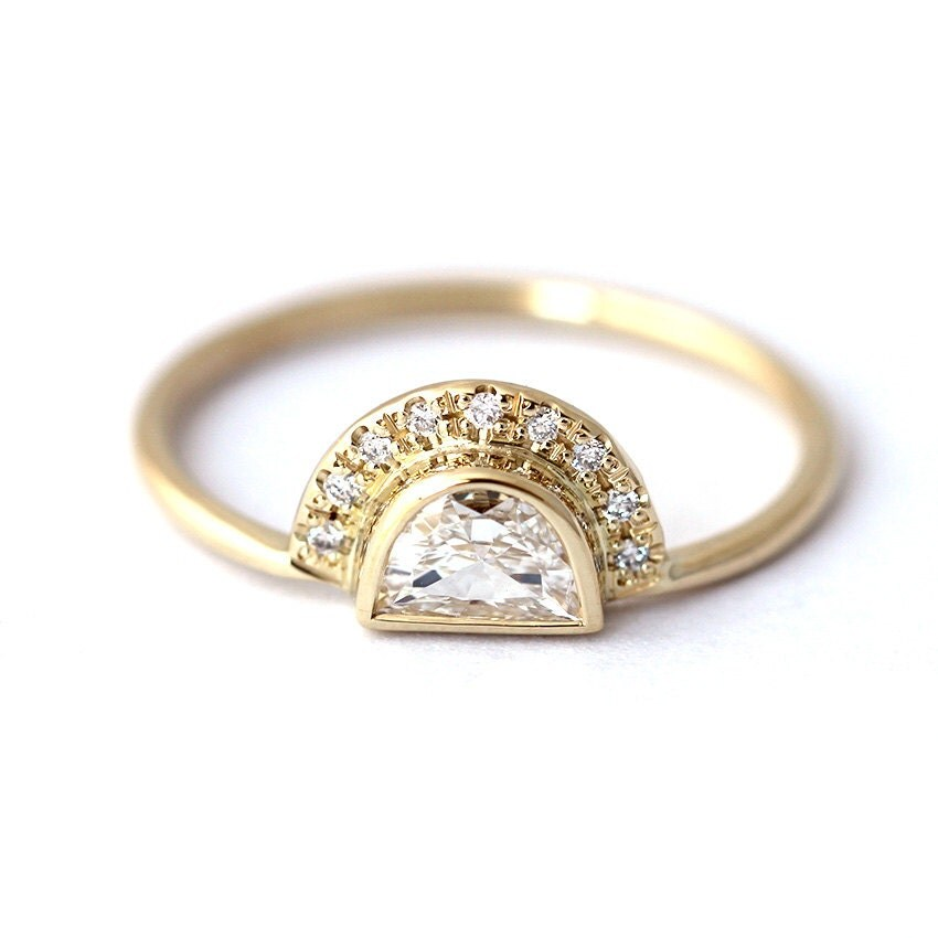 engagement ring half moon ring by artemer
