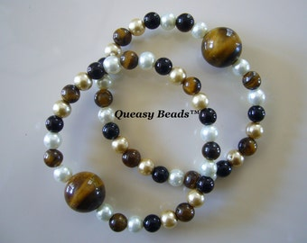 """Queasy Beads™ Motion Sickness Bracelets in """"Eye of the Tiger"""""""