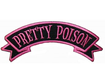 Pretty Poison Name Tag Horror Death Kreepsville Embroidered Iron On Applique Patch