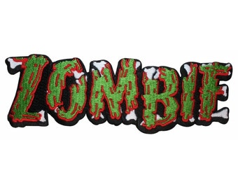 Zombie Word Horror Undead Rotting Kreepsville Embroidered Iron On Applique Patch
