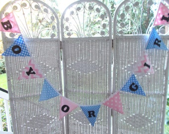 Gender Reveal Fabric Banner- Boy or Girl fabric banner