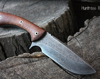 """Handcrafted FOF """"Huntress II"""", survival, hunting or tactical knife"""