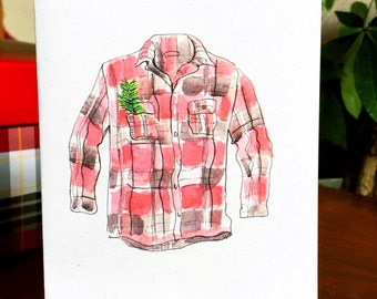 Flannel Note Card - Blank