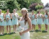 Wedding Bouquet, Sola wood Bouquet, Burlap Mint Bouquet, Alternative Bouquet, Mint Bouquet, Sola flowers, Wood Bouquet