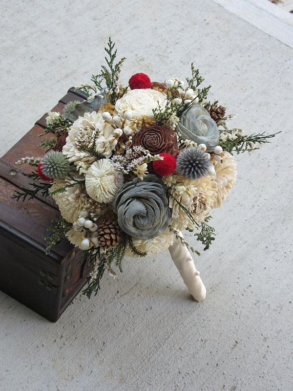 wooden flowers wedding bouquets wedding bouquet sola wood bouquet dried bouquet alternative 1486