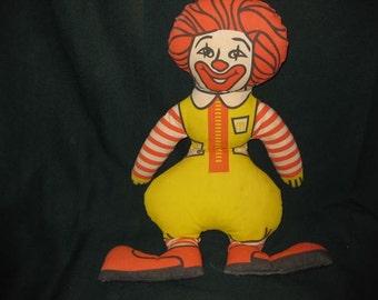 Vintage Ronald McDonald Fabric Doll  #1232