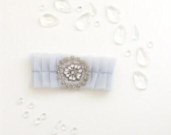 No.10 Tulle Garter, Wedding Garter Set, Bridal Garter, Something Blue, Custom