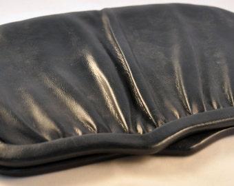Vintage Blue Leather Clutch / Purse LIebermann's of Lansing MI
