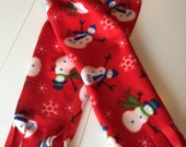 Fleece Snowman Christmas scarf