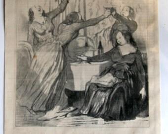 Original Antique Emancipation of Women Lithograph