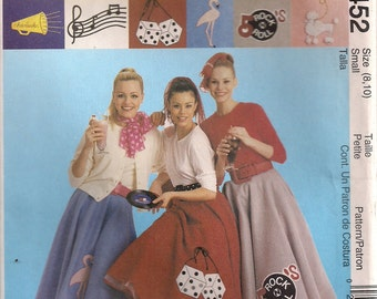 McCall's Costume Sewing Pattern 9452 - Misses' Circle (Poodle) Skirt & Petticoat (8-10)