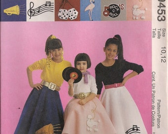 McCall's Costume Sewing Pattern 9453 - Children's and Girls' Circle (Poodle) Skirt & Petticoat (3-4, 5-6, 10-12, 14)