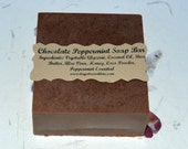 Chocolate Peppermint Soap Bar, Glycerin Soap, All Natural Soap, Bath and Body, Coconut Oil, Shea Butter, 4 oz soap