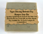 Vegan Detoxing clay Soap, bath and body, Shampoo Soap Bar, Glycerin Soap, Aloe Vera Soap, Tea Tree Oil Soap, Bath and body, All natural Soap