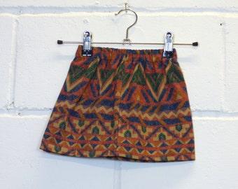Upcycled Aztec Kids Skirt