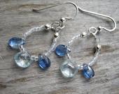 Kyanite & Aquamarine Earrings, .925 Sterling Silver Teardrop Earrings, AAA Grade Gemstone Dangle Earrings, Briolette Jewelry, READY To Ship