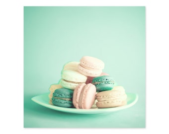 Macaron, macarons, macaroon, canvas art, wall art canvas, girl nursery decor girl, macaroons, art, print, wall art, large art large wall art