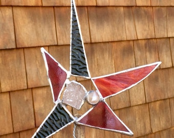 Stained glass star tree topper
