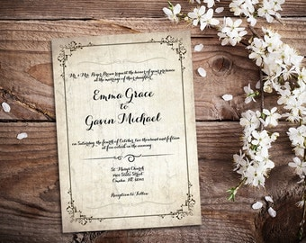 Wedding Invitation - Birch
