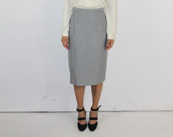 grey pencil skirt high waist wiggle office gray light grey