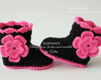 Crochet slipper boot | Etsy
