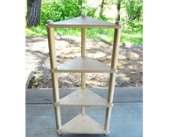 Vintage 1940s Plant Stand Country Cottage Garden Porch Etagere Antique Victorian Farmhouse Primitive Demilune Shelves Flower Display Stand
