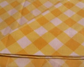 Grant's Home Pair of Pillow Cases in Yellow Basket Weave Vintage Muslin Free Shipping