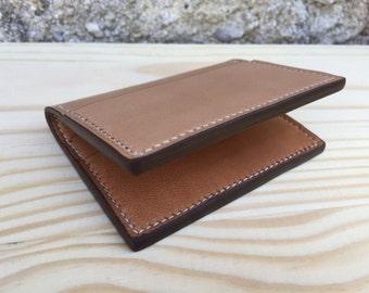 Caramel Cardholder - Handstitched Leather Wallet