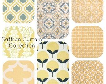 Yellow Curtains,  Gold Yellow Curtain,  Curtain Panels - Custom Drapes - Drapery panels - Drapes - Gold Decor - Home Decor - Housewares