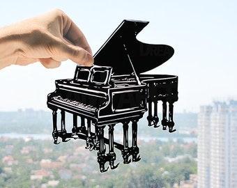 Music Gift Music Wall Art Gift for Musician Gift for Music Lover Gift for Piano Teacher Music Art Piano Art Music Room Decor Pianist Gift