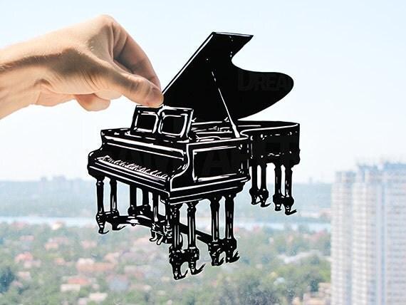 Grand Piano - Handmade Original Paper Cut Home Decor Gift - UNFRAMED