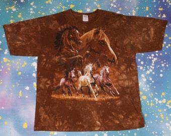 Wild Horses T-Shirt Size XL