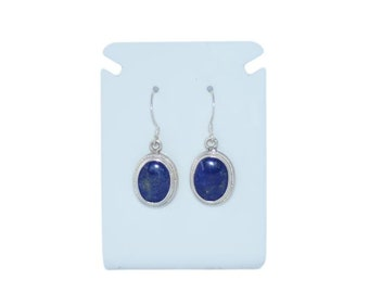 Lapis Lazuli  earrings, Sterling Silver ,Lapis earring set, Nepal, Genuine Lapis, Navy Blue, Nepal, Dangling earring, E3