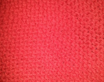 Knitted Wash Cloth (Red)