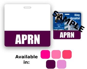 APRN Badge Buddy Horizontal Pink Purple