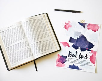 But God - Ephesians // Christian Scripture Print by Mercy Ink
