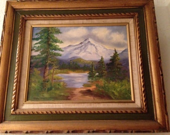 Mountain painting, Pacific NW
