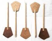 One wood and Leather Fly Swatter