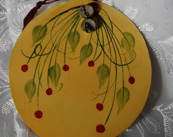 Hand Painted Tin Ornament