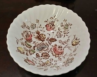 Vintage Johnson Brothers Staffordshire Bouquet Fruit Bowl  - Made in England