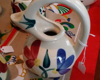 Purinton Pottery Honey Jug Hand Painted - Made in USA