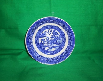 """One (1), 5 1/8"""" Fruit / Dessert (sauce) Bowl, from Homer Laughlin, in the Blue Willow Pattern."""